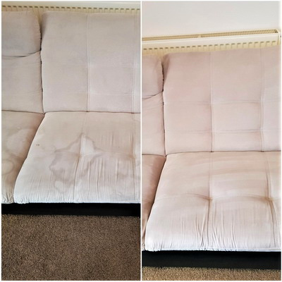 water marks in your sofa